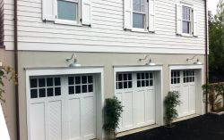 Classic Hampton design garage doors