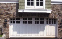 Composite cellular vinyl garage doors