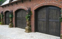 Composite material garage doors