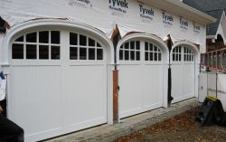 Composite cellular vinyl garage doors