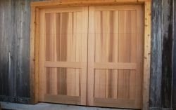 Country barn doors, western red cedar