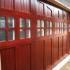 Sapele mahogany custom garage doors
