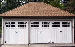 Paint grade double and single garage doors