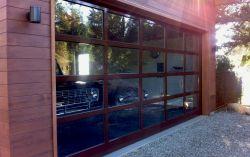 Custom 17 ft wide by 8 ft high aluminum door