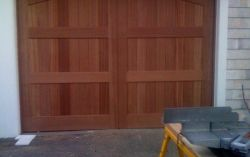 Custom tongue and groove cedar wood door
