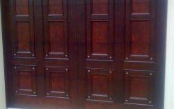 Custom Mahogany doors with copper insert