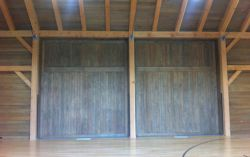Custom barn doors – indoor basketball court 3