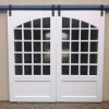 Custom wood sliding doors with custom arch 2