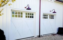 Custom wood doors – garage/guest house