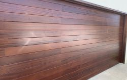 Custom wood cladded door
