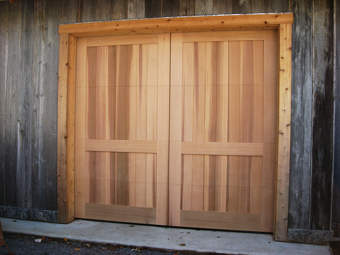 Cedar Doors Photo 1 Of 9 Cedar Clad Garage Doors Wageuzi