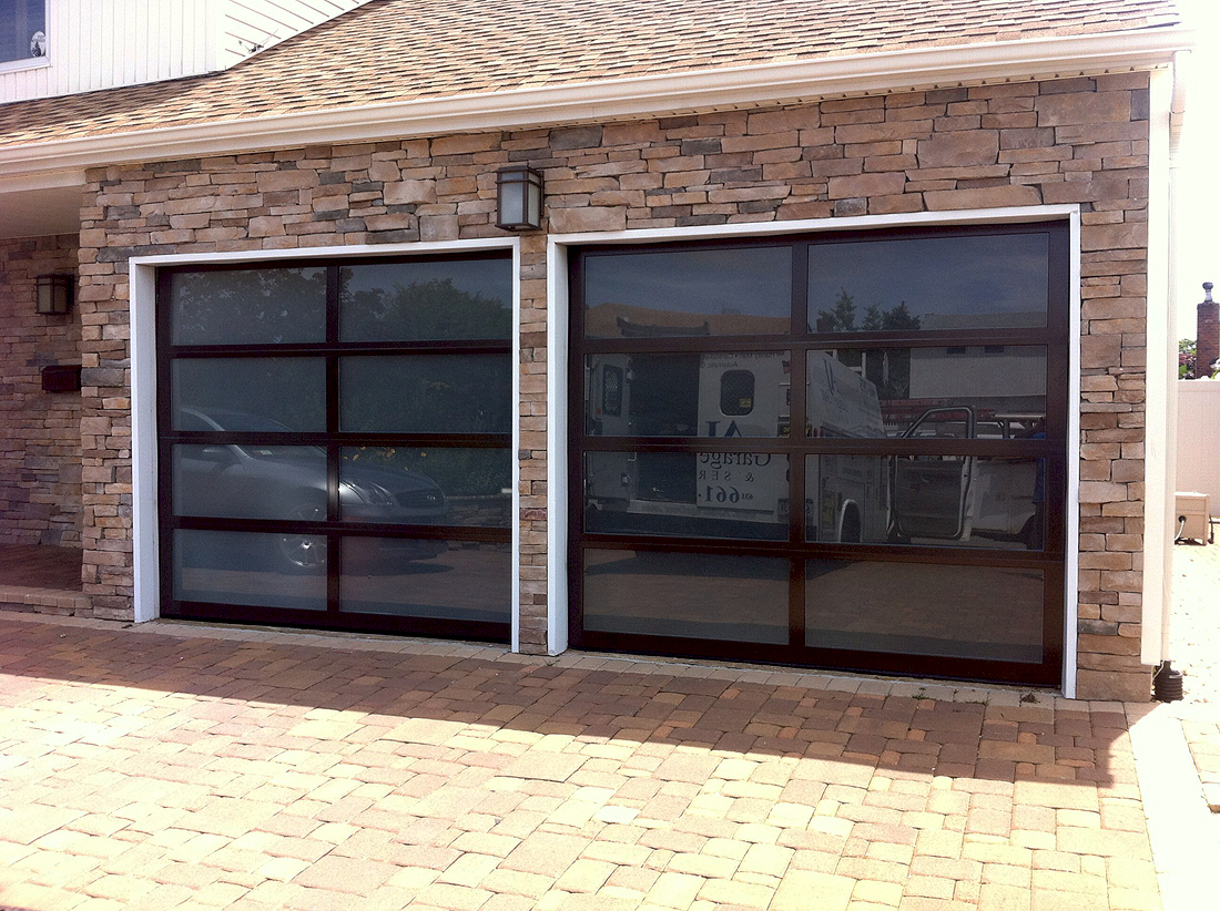 aluminum full view glass garage doors aj garage door