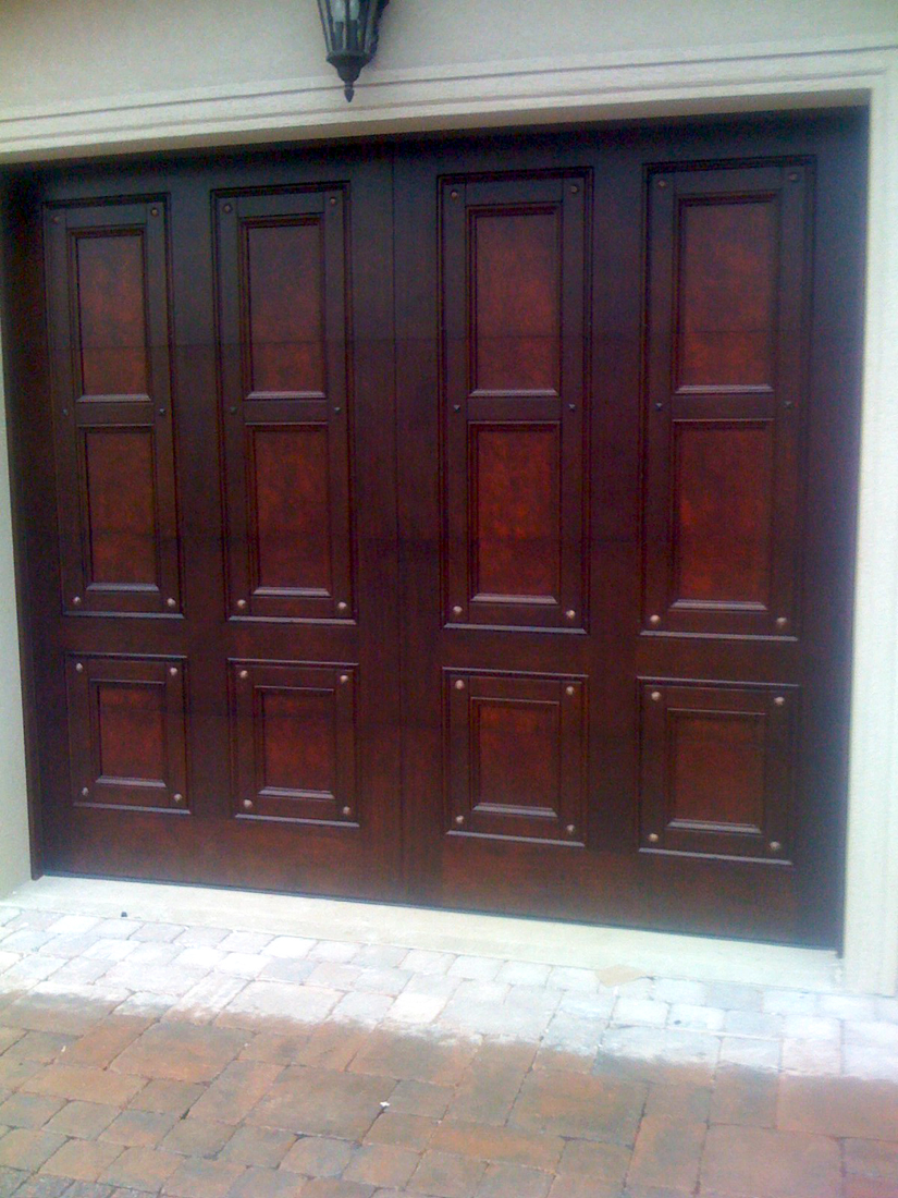 Custom Mahogany garage doors