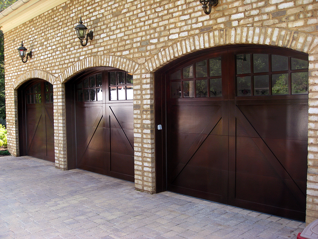 Elegant Wood Garage Doors