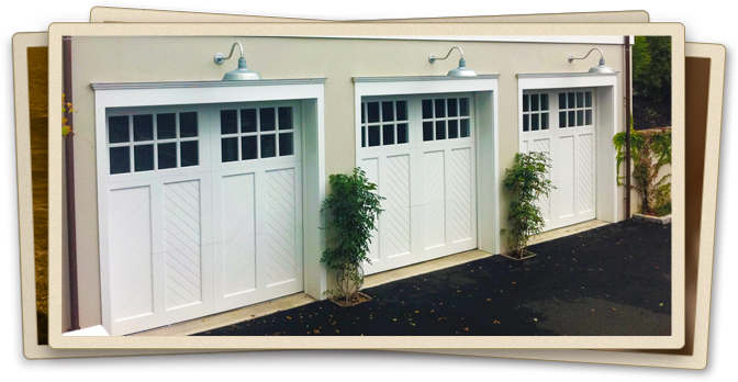 custom hamptons garage doors