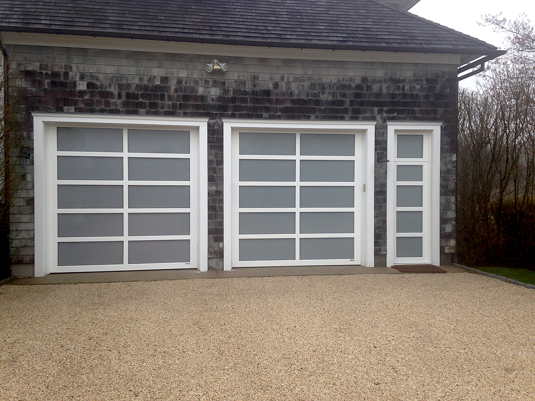 825 #846947  Aluminum Garage Doors With Full View Glass And Matching Entrance Door image Full View Aluminum Garage Doors 37231100