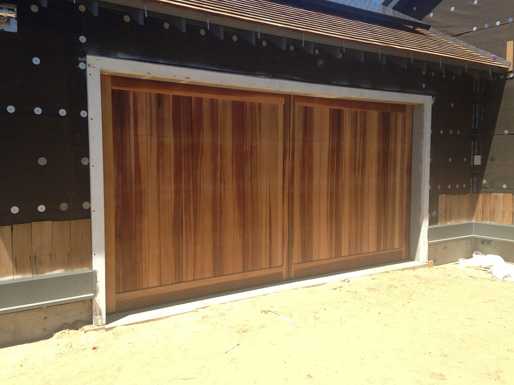 Custom wood garage doors sapele mahogany