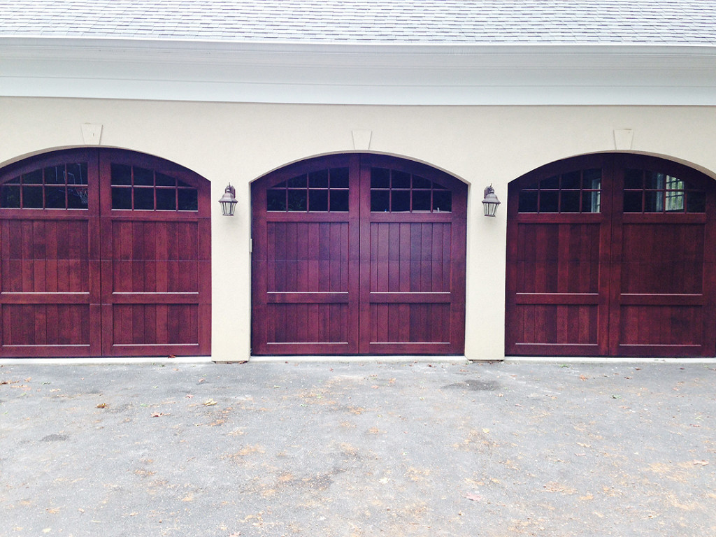custom wood garage doors with custom arches