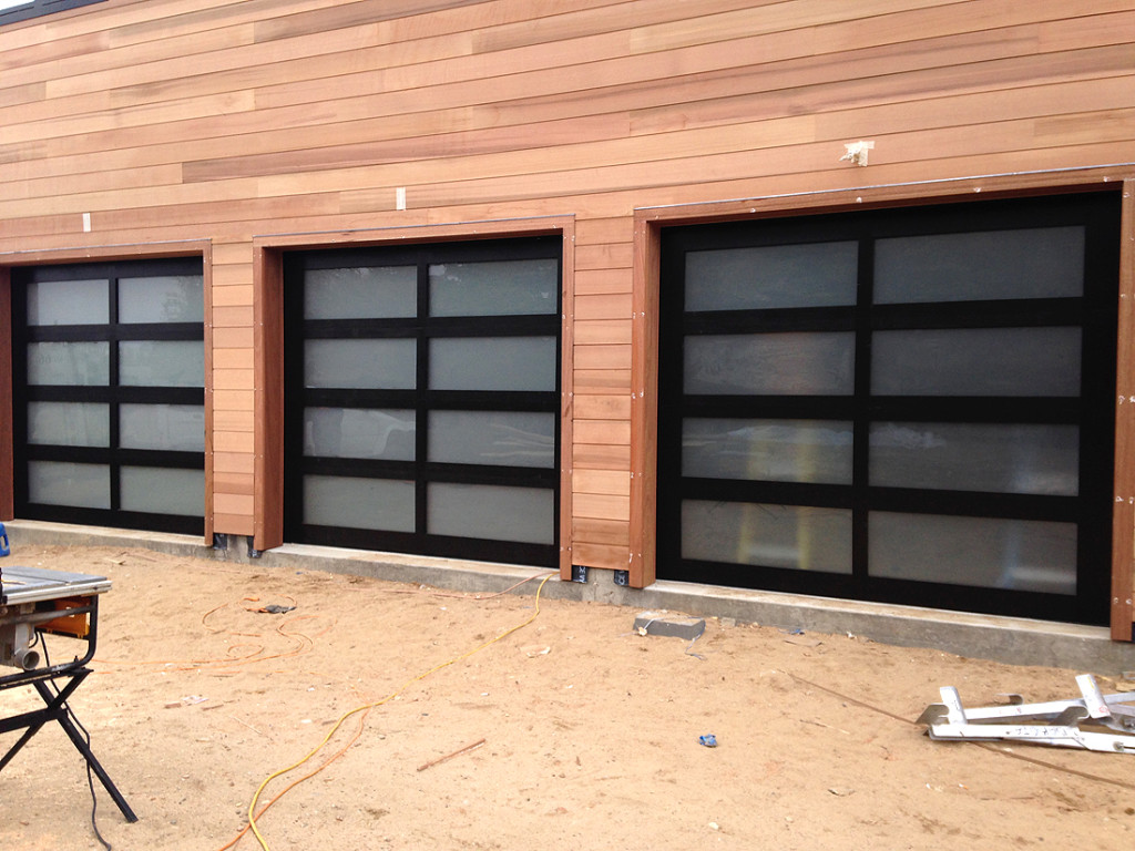 Custom wood frame garage doors