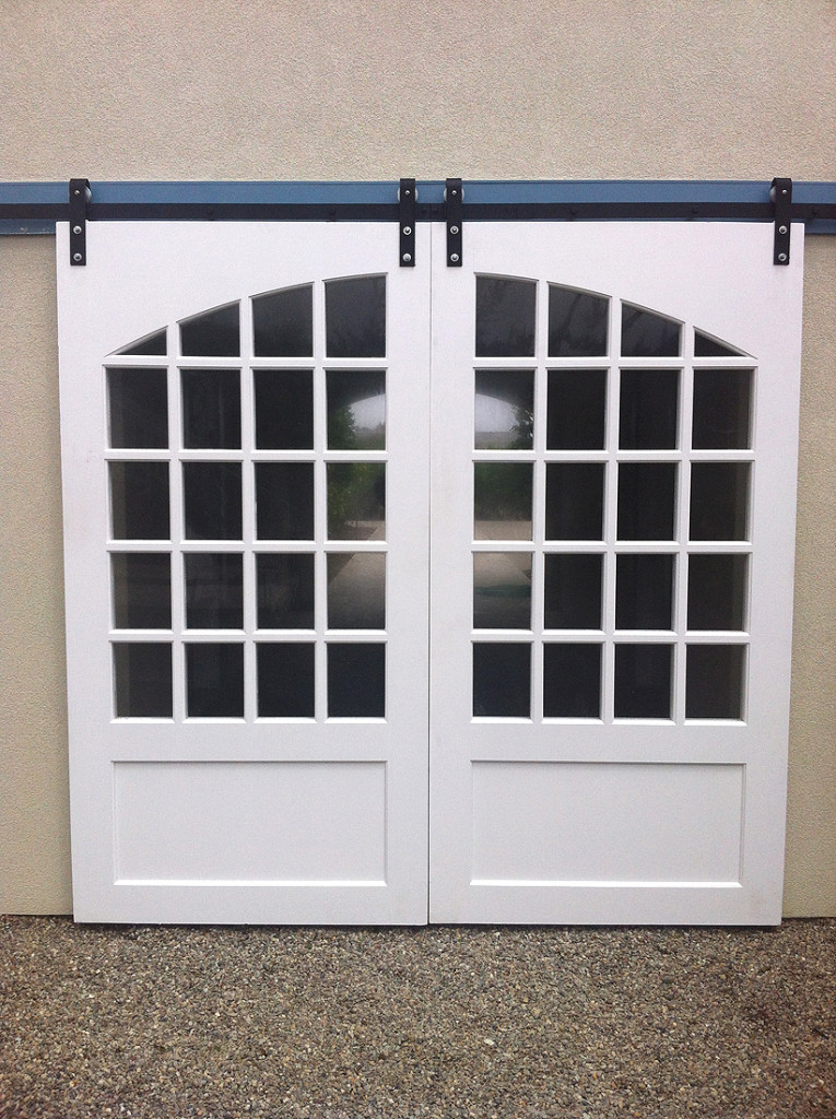 Custom wood sliding doors with custom arch 2 aj garage for Custom sliding doors