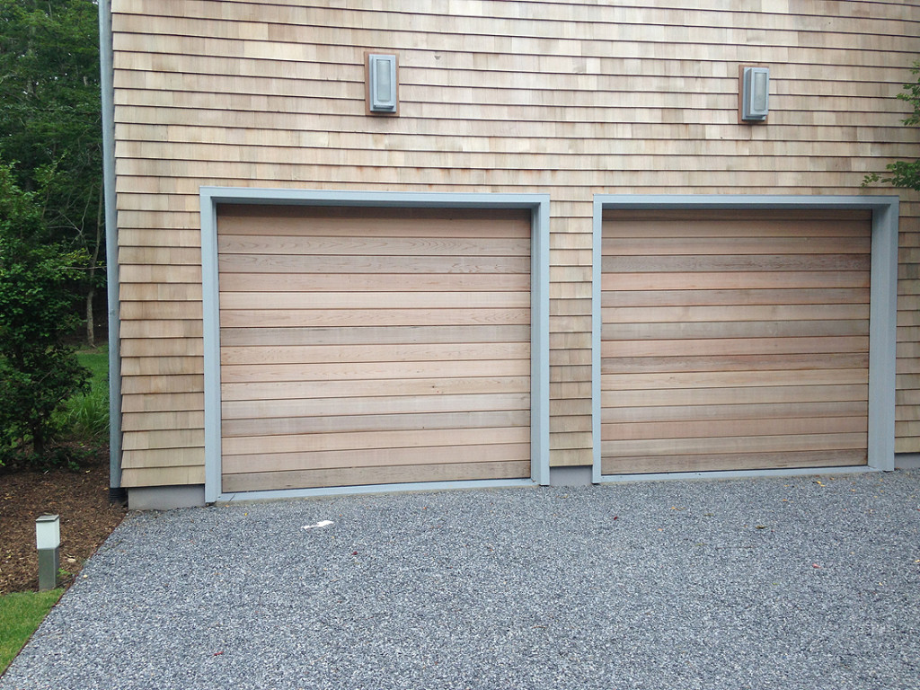 western red cedar wood garage doors