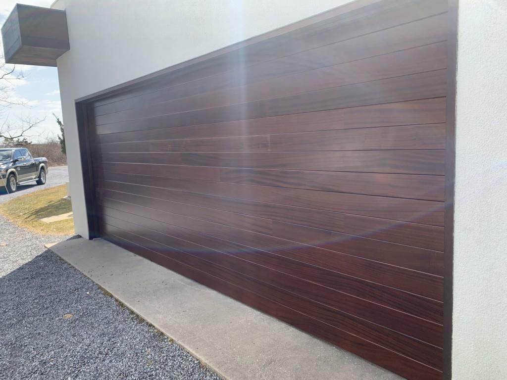 Custom wood cladded door